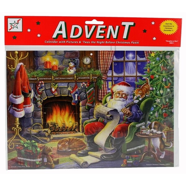 shop naughty or nice advent calendar multi free. Black Bedroom Furniture Sets. Home Design Ideas