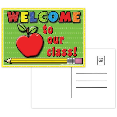 (12 Pk) Welcome to Our Class Postcards 30 Per Pk