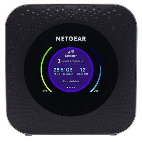 Netgear Nighthawk M1 LTE Mobile Router Missing Back Cover- Black (Certified Refurbished)