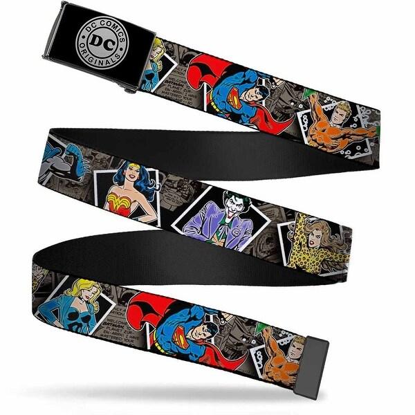 Dc Originals Reverse Brushed Silver Cam Dc Originals Vintage Comic Web Belt