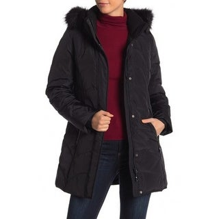 Link to Gerry Sara Faux Fur Trim Down Parka Stand-Up Collar, Black, Medium Similar Items in Women's Outerwear