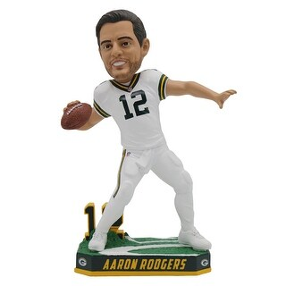 "Green Bay Packers Aaron Rodgers Color Rush Jersey 8"" Bobblehead - multi"