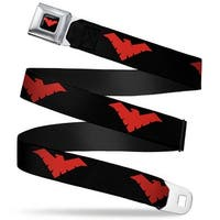 Nightwing Logo Full Color Black Red Nightwing Logo Black Red Webbing Seatbelt Belt Standard
