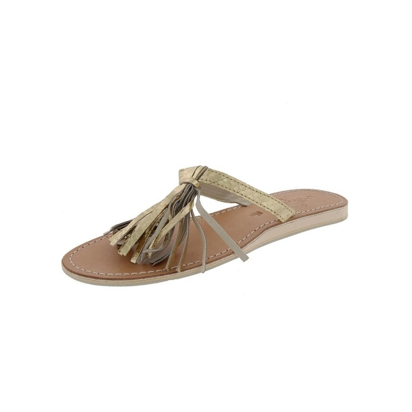 L Space Womens Flip-Flops Metallic Fringe - 9 medium (b,m)