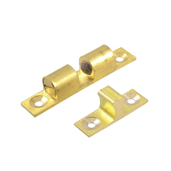 Brass Double Ball Catch Hardware 60mm Long For Cabinet Doors