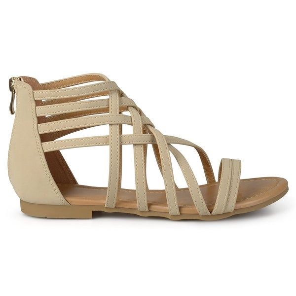 Brinley Co Women's Hex Flat Sandal - 7.5