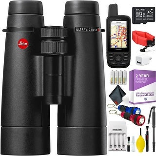 Leica 8 x 50 Ultravid HD-Plus Binocular + Handheld GPS + Cleaning Kit + 2 Year Extended Warranty