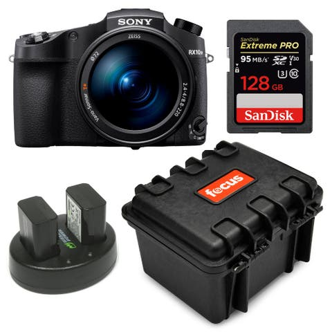 Sony CyberShot RX10 IV with SanDisk 128GB SD Card Bundle