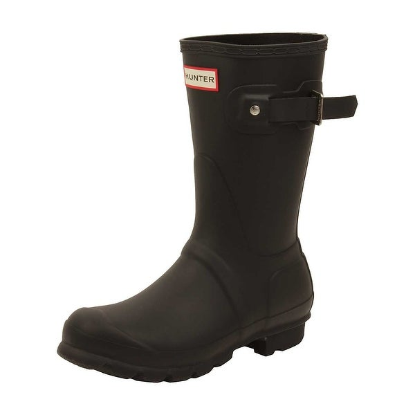 Hunter Womens Original Short Rain Boots in Black