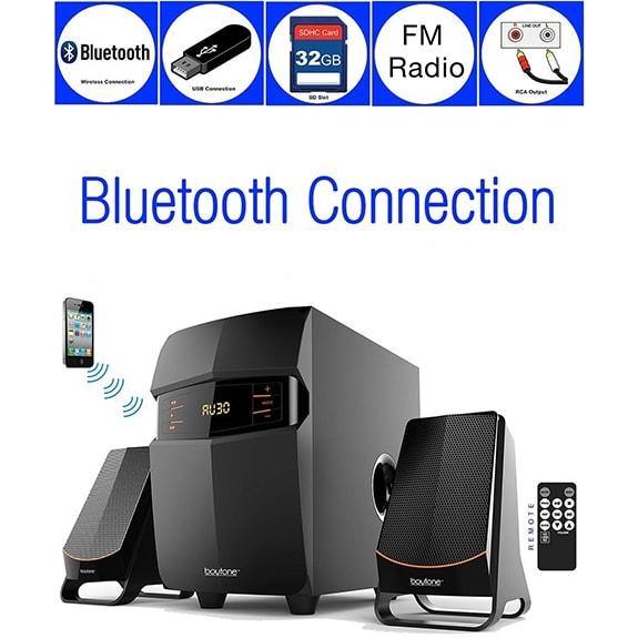 Boytone BT-3685F Wireless Bluetooth Speaker Powerful Bass System with FM