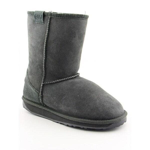 Emu Australia Stinger Lo Women Round Toe Leather Gray Snow Boot