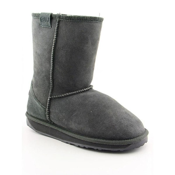 Emu Australia Stinger Lo Women Round Toe Suede Gray Snow Boot