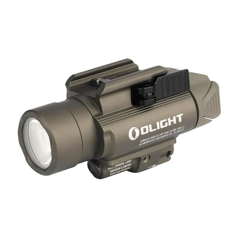 Olight Baldr Pro 1350 Lumen Pistol Flashlight with Green Laser(Tan)