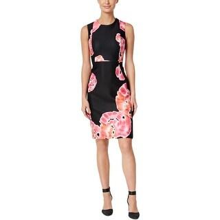 Calvin Klein Womens Scuba Dress Wear To Work Tie-Dye