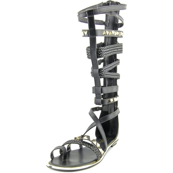 Fergie Smith Women Open Toe Synthetic Black Gladiator Sandal