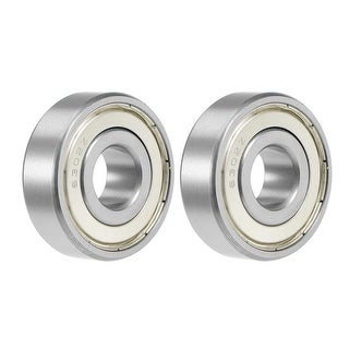 6302ZZ Deep Groove Ball Bearing 15x42x13mm Double Shielded Chrome Bearings 2pcs - 2 Pack - 6302ZZ (15*42*13)