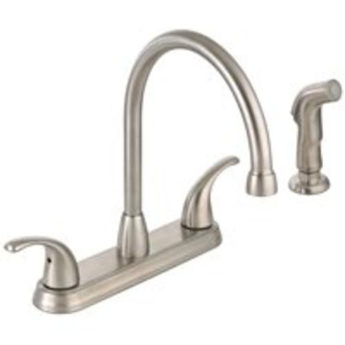 Mintcraft 67387-1101 Two Handle Hi-Rise Kitchen Faucet, Chrome