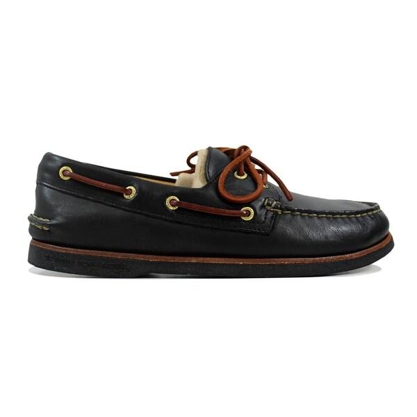Shop Sperry Men s Gold Authentic Original Black 10847137 Size 10.5 ... b74a8d2a21bd