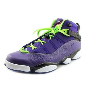 Jordan 6 Rings Men Round Toe Synthetic Purple Basketball Shoe