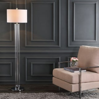 "Link to Safavieh Lighting 64-inch Lovato Chrome LED Floor Lamp - 15"" x 15"" x 64"" Similar Items in Floor Lamps"