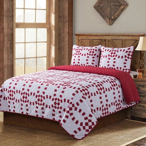 Country Living Holiday Ring Quilt Set