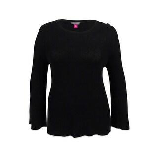 Vince Camuto Women's Bell Sleeve Sweater (XL, Black) - Black - xL