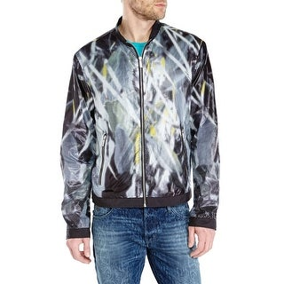 Just Cavalli Windbreaker Jacket X-Large Euro 54 Blue and White Full Zip