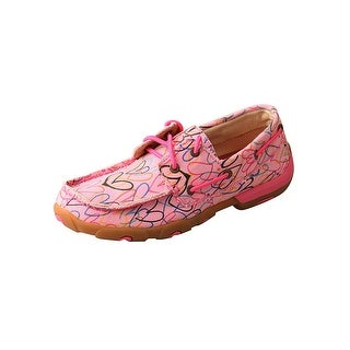 Twisted X Casual Shoes Girls Red Buckle Canvas Lace Up Pink