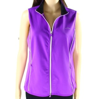 Lauren By Ralph Lauren NEW Purple Womens Size XL Full-Zip Vests Jacket