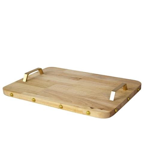 Iphone-shaped Oak Wooden Board (Rose-Gold) Elegant Rustic Serving Tray & Platter - Natural