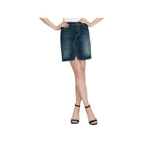 Jessica Simpson Womens A-Line Skirt Split Hem High-Rise
