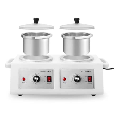 Double Pot Electric Wax Warmer for Hair Removal or Paraffin - White - Double Pot