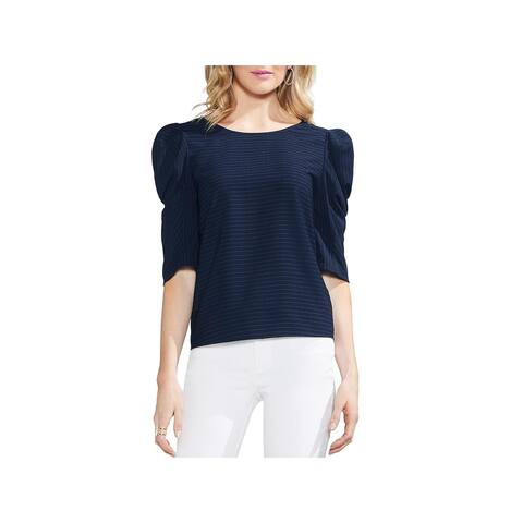 Vince Camuto Womens Blouse Pinstripe Bubble Sleeve