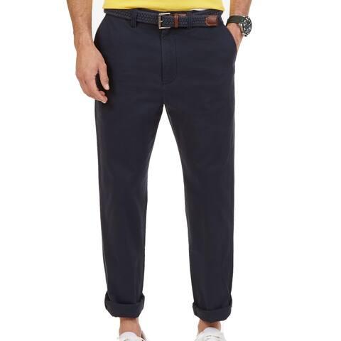 Nautica Mens Pants True Navy Blue Size 50x30 Big & Tall Twill Chino