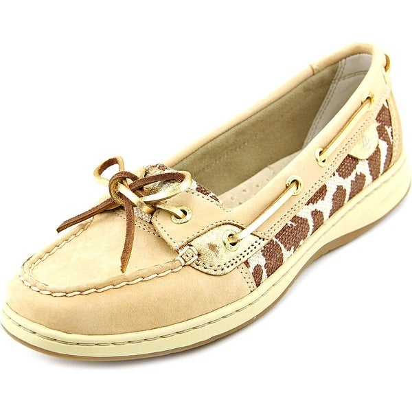 Sperry Top Sider Ivyfish Women Moc Toe Leather Brown Boat Shoe