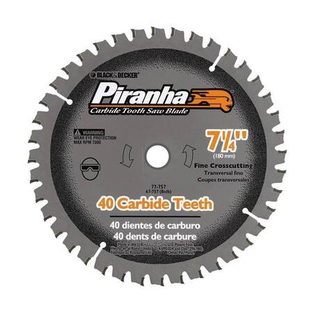 "Black & Decker 77-757 Carbide Saw Blades, 7-1/4"" 40 Teeth"