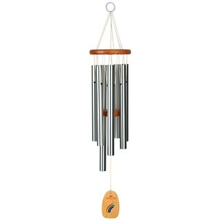 Woodstock Wind Chimes Over the Rainbow Tune Wind Chime - Ash Wood with Aluminum Tubes - Patio, Balcony and Garden Decor - 27 in.