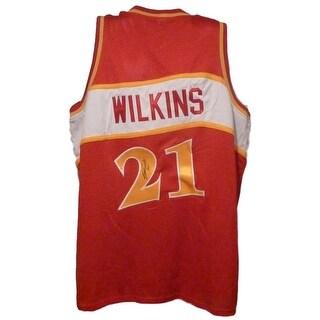 Dominque Wilkins Autographed Red Size XL Jersey Atlanta Hawks