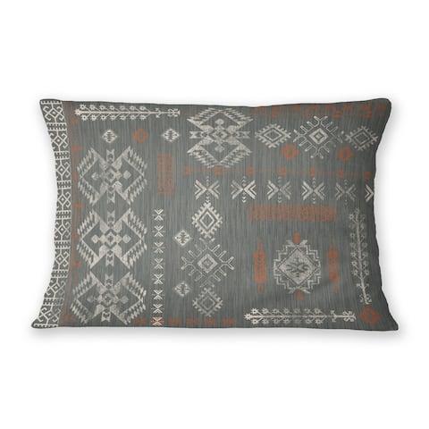 SABINA CHARCOAL Indoor Outdoor Lumbar Pillow By Kavka Designs