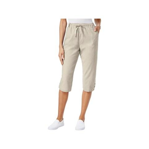 Karen Scott Womens Capri Pants Cotton Relaxed Fit
