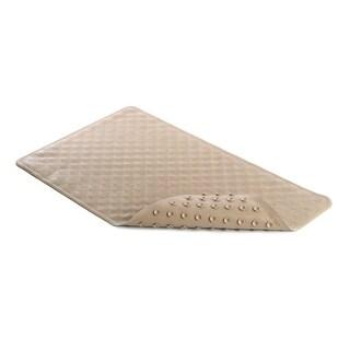 "Con-Tact Brand BMAT-C02472-04 Shells Rubber Bath Mat, Taupe, 16"" x 28"""
