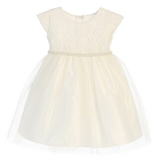 Baby Girls Off White Sequin Lace Detailed Tulle Easter Dress 9-24M (2 options available)