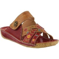 L'Artiste by Spring Step Women's Leigh Slide Red Multi Leather