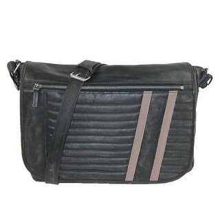 Scully Men's Leather Distressed Messenger Bag with Removable Computer Sleeve