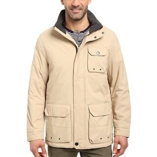 Nautica Mens Waterproof Multi-Pocket Parka Medium M Tan Coat