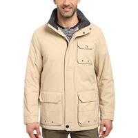 Nautica Mens Waterproof Multi-Pocket Parka Large L Tan Coat