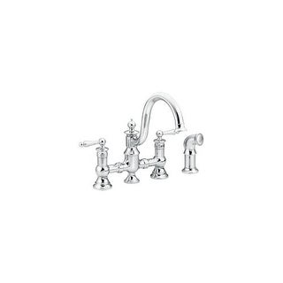 Moen S713 High-Arc Kitchen Faucet with Side Spray from the Waterhill Collection