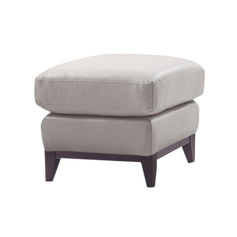 Lydia Top Grain Leather Ottoman