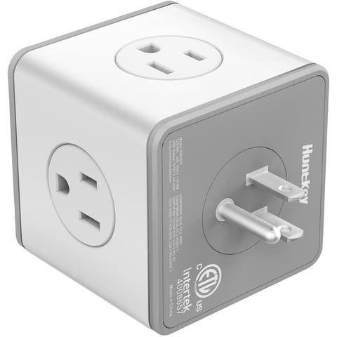 Huntkey Cubic Surge Protector with 4 AC outlets & 3 USB Ports