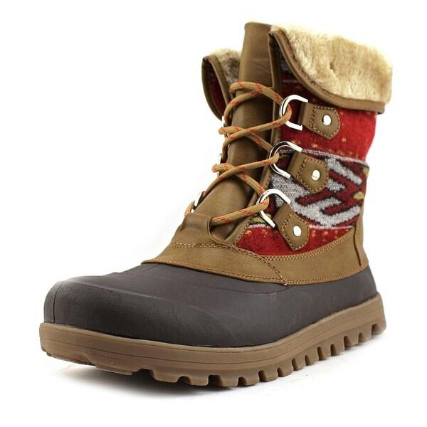 Baretraps Yaegar Women Round Toe Canvas Brown Winter Boot